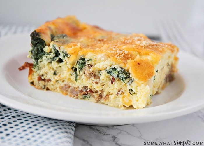 Easy Spinach Egg Casserole Recipe Somewhat Simple