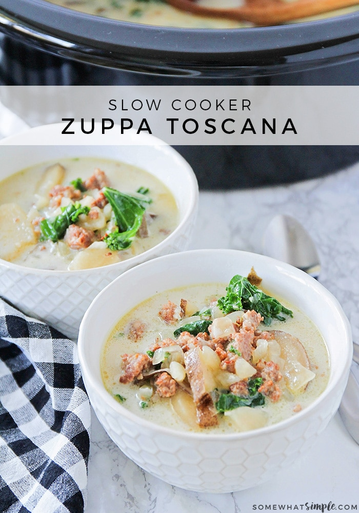 two bowls of zuppa toscana olive garden copycat soup recipe
