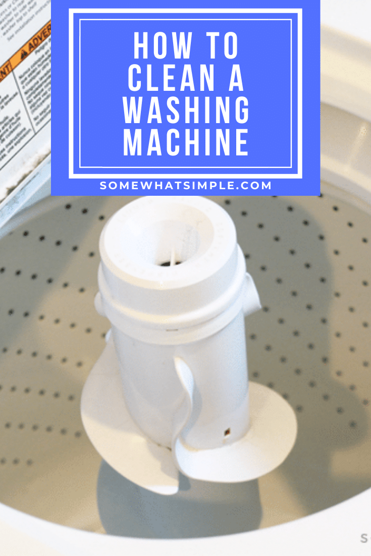Following these easy steps will show you just how simple it is to clean your washing machine so it is shiny and scum-free, just like the day you bought it! We have directions for cleaning both front and top loader washing machines! #cleaning #cleaningtips #cleaninghacks #cleaningtricks #springcleaning #howtocleanawashingmachine via @somewhatsimple