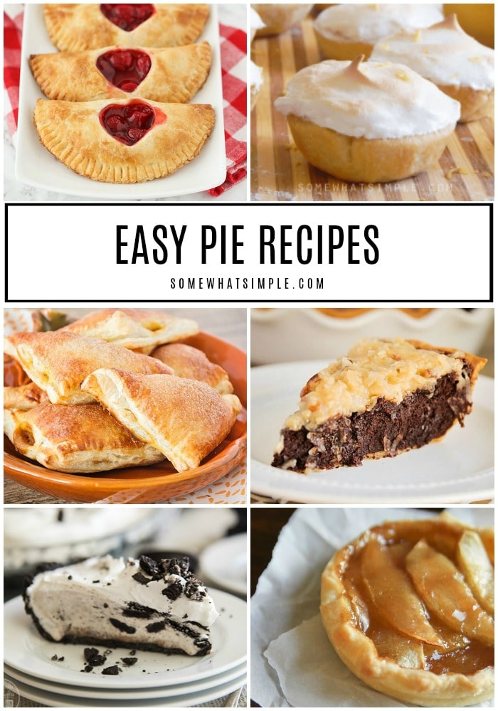 10 of our very favorite pie recipes that are not only super delicious, they're EASY too!  via @somewhatsimple