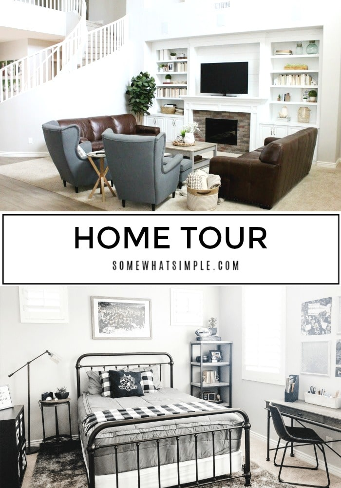 Welcome friends! I'm excited to take you on a little home tour of our new house!  via @somewhatsimple