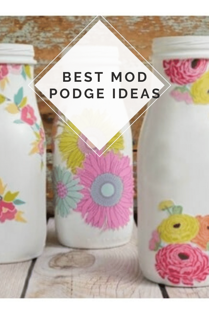 Looking for a fun, and simple craft to make today? Take a look at some of our favorite mod podge ideas and craft projects! All of these projects are super easy to make. With over 30 ideas, there's something you're going to love! #modpodgecrafts #modpodgepicturesonwood #modpodgeideas #modpodge #modpodgepicturesoncanvas #easymodpodgeprojects via @somewhatsimple