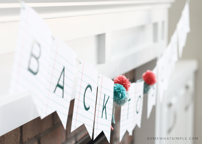 School Themed Banner Free Printable Includes Entire Alphabet