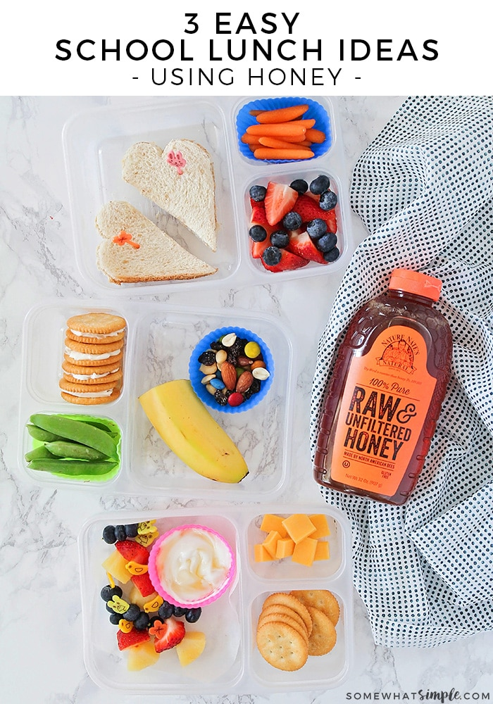 These easy school lunch ideas using honey are sure to please even the pickiest of eaters, and make packing school lunches a breeze!
