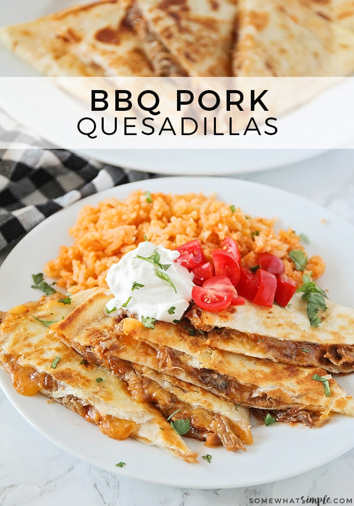 Bbq Pulled Pork Quesadillas Somewhat Simple