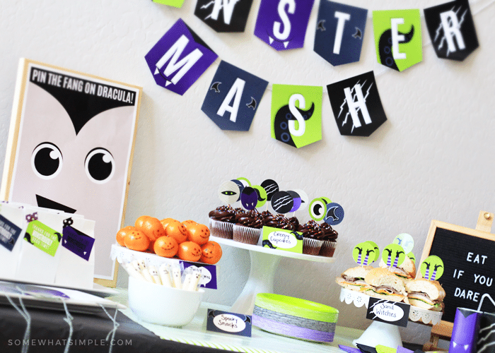image about Cake Walk Numbers Printable identify Monster Mash Halloween Occasion Printables + Get together Tips