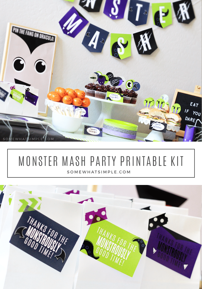 The most adorable Halloween Party Printables in all the land, along with simple yet awesome Monster Mash Party ideas that kids and parents will love! #halloweenparty #monstermash #halloween #printables