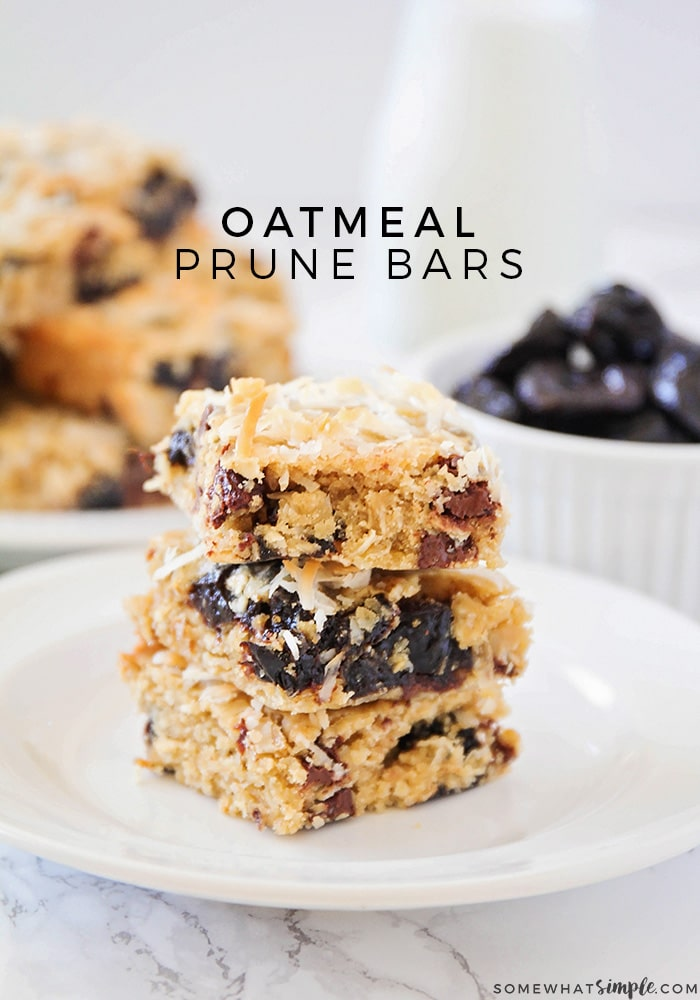 These crisp and chewy one-bowl oatmeal prune bars are packed with deliciousness, and super easy to make. They're perfect for snacking!