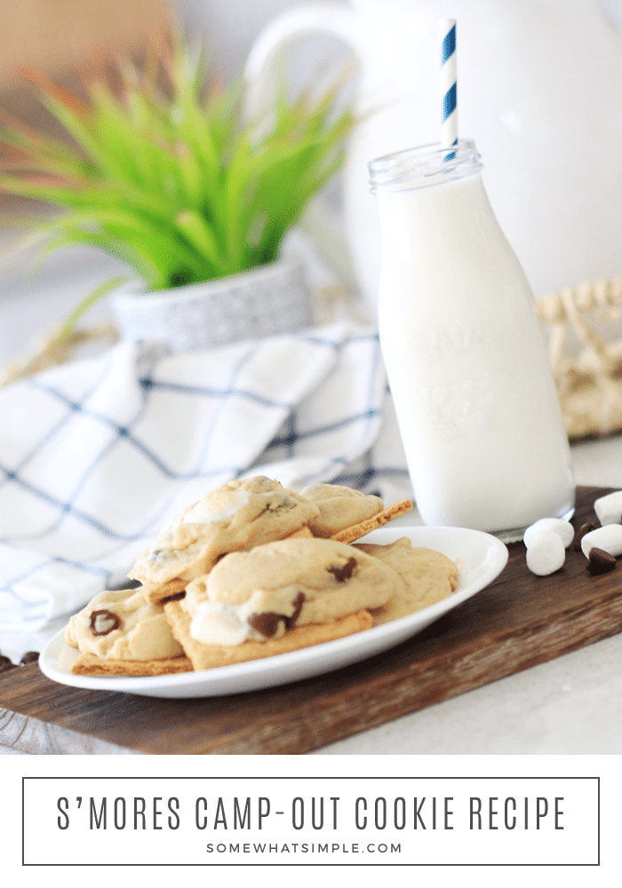 Camp Out Smores Cookies Recipe: Camp Out Smores Cookies Recipe: Now you can have the deliciousness of s'mores all year round! These Smores Cookies are so simple to make, people will be begging for the recipe! #cookies #cookierecipe #dessert #yummy #smores