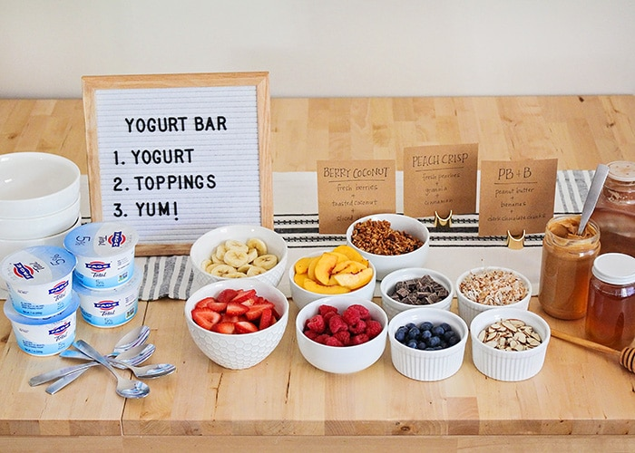This delicious and fun yogurt bar is so easy to put together, and makes a perfect after school snack or special breakfast!
