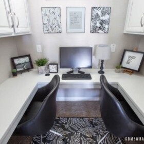 small home office - small office decor ideas