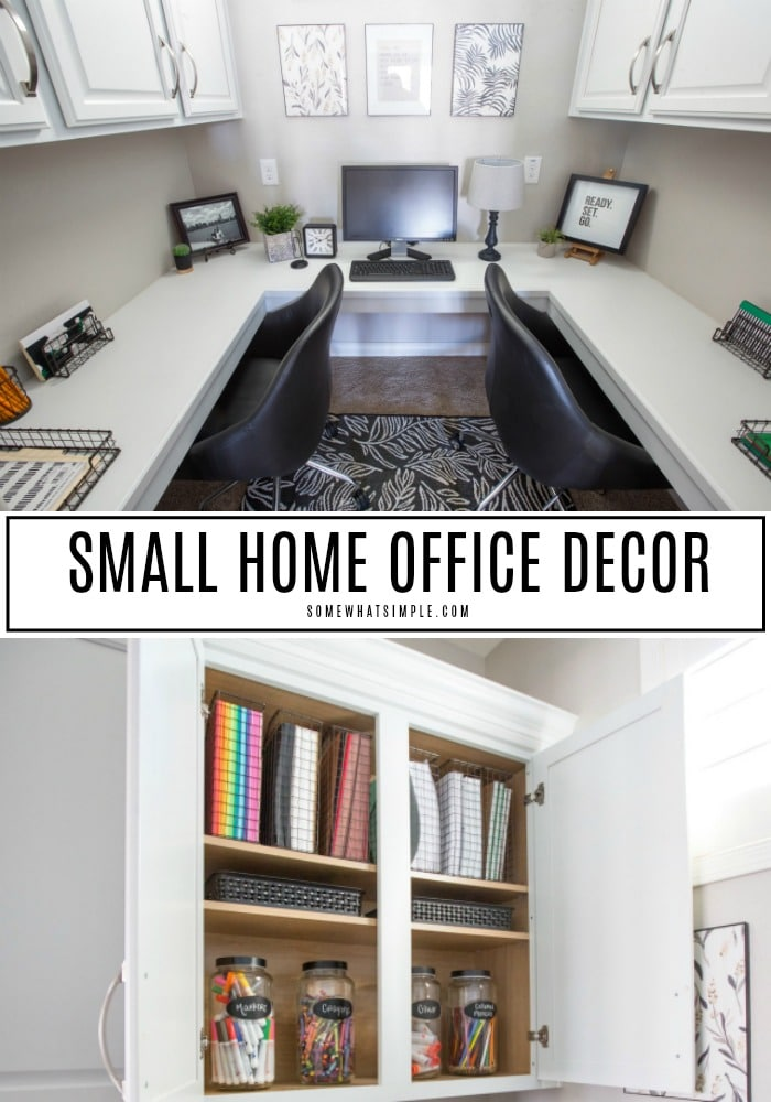 small home office decor and organization ideas