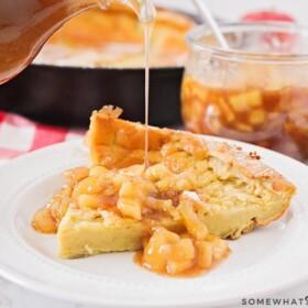 German pancakes recipe with apple cinnamon