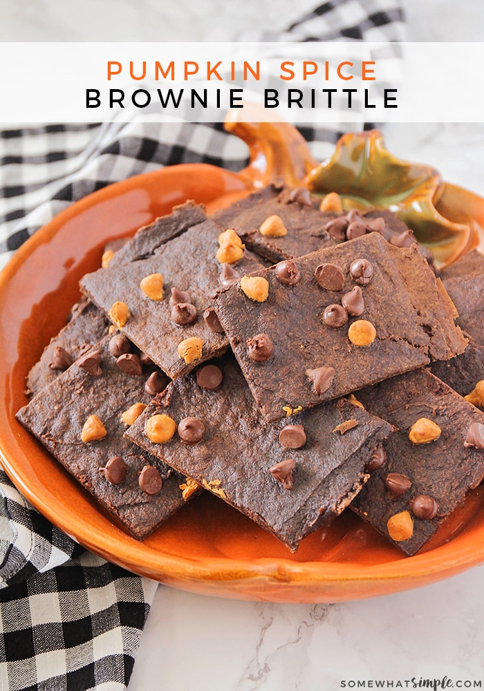 pumpkin spice brownie brittle