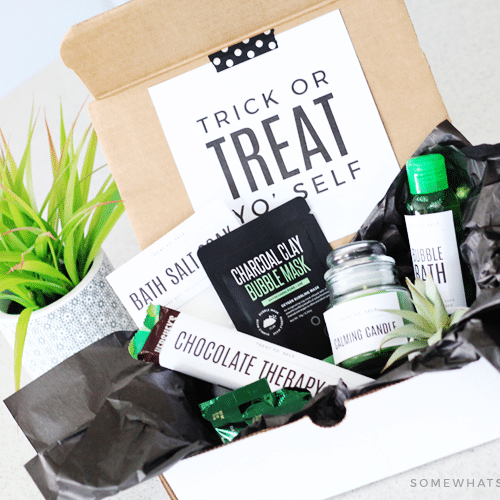 trick or treat yo' self relaxation gift basket