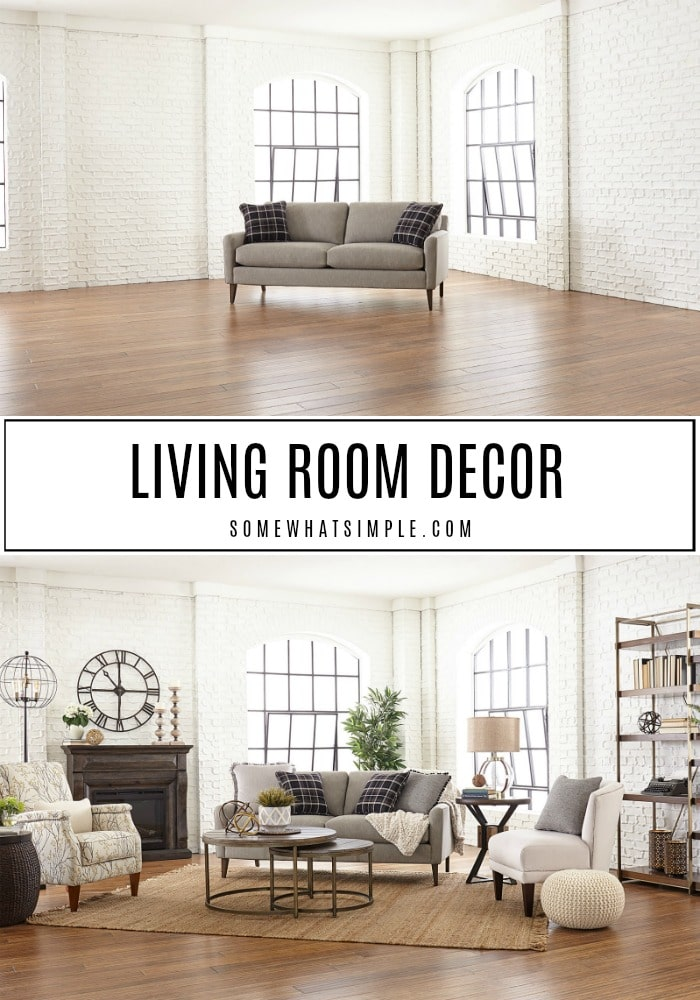 Simple, Gorgeous Living Room Decor And A Friendly Competition Among Bloggers! Take A Look At The Space I Decorated For TheLa-Z-Boy Design Dash! #living room #decor #remodel #familyroom #refresh #makeover via @somewhatsimple
