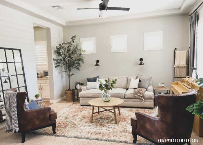 a newly decorated living room