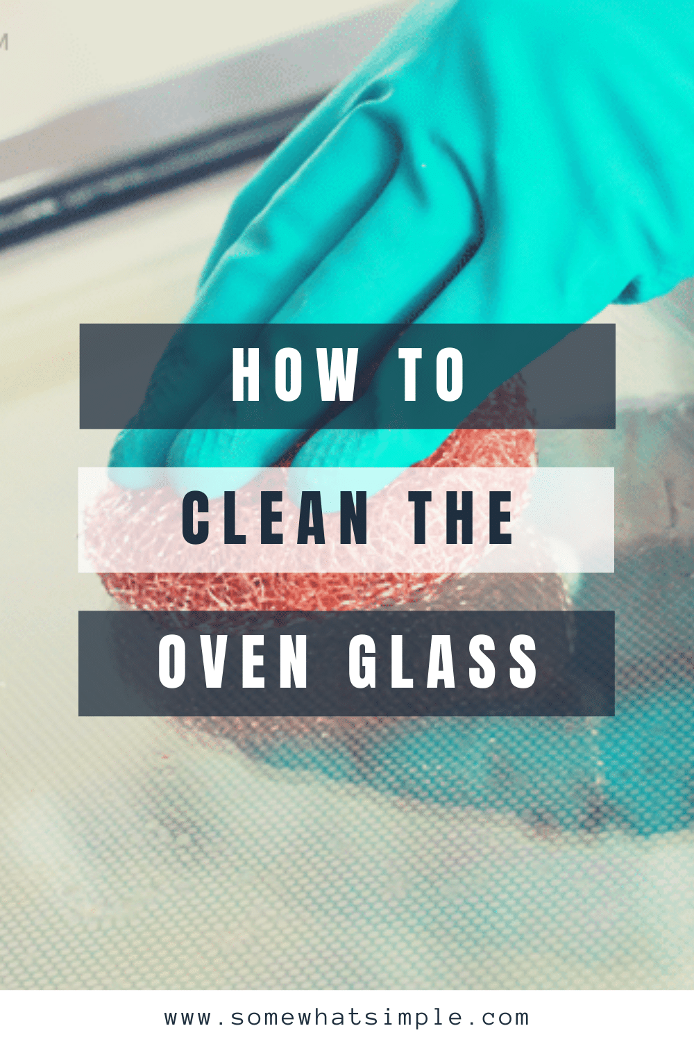 I'm going to show you two different way how to clean the oven glass door to get it looking like new again! These easy ways to clean your oven glass and the inside of your oven, will get that stubborn, baked-on food off in no time! via @somewhatsimple
