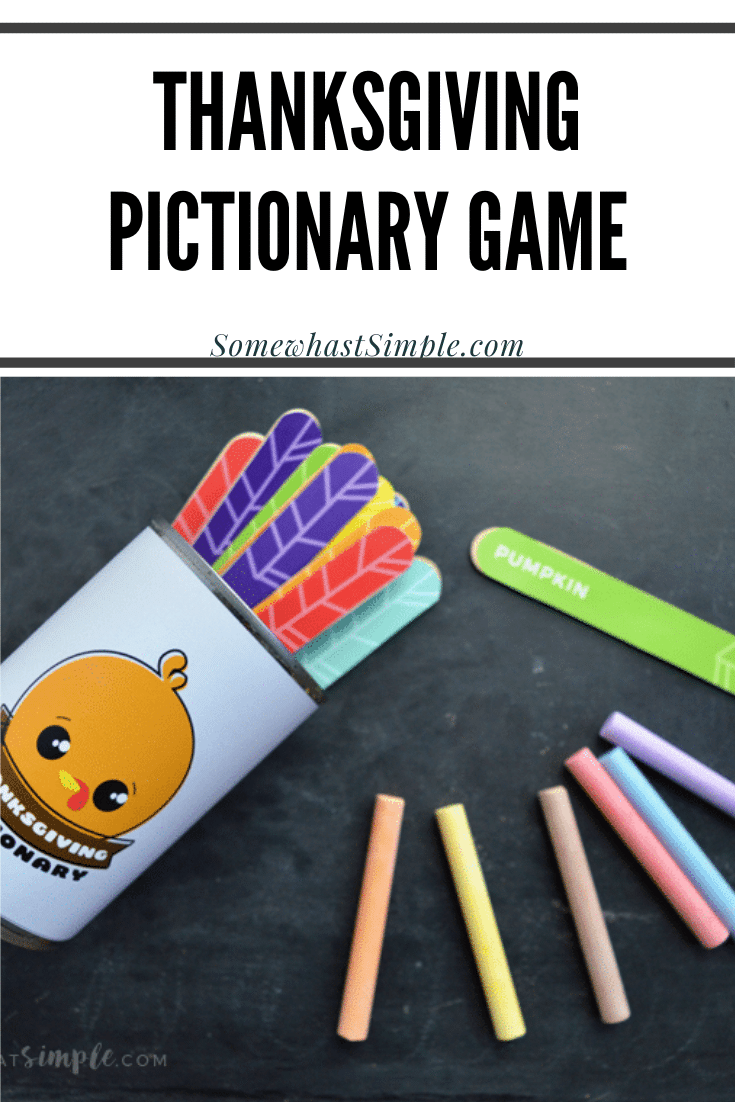 Looking for some fun Thanksgiving games to play with your kids?! This Thanksgiving Pictionary Game is a great way to fire up imaginations and entertain all ages this holiday season! via @somewhatsimple