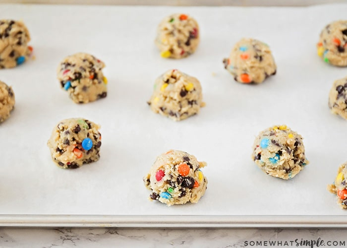 Making Chocolate Chip Pudding Cookies with M&Ms