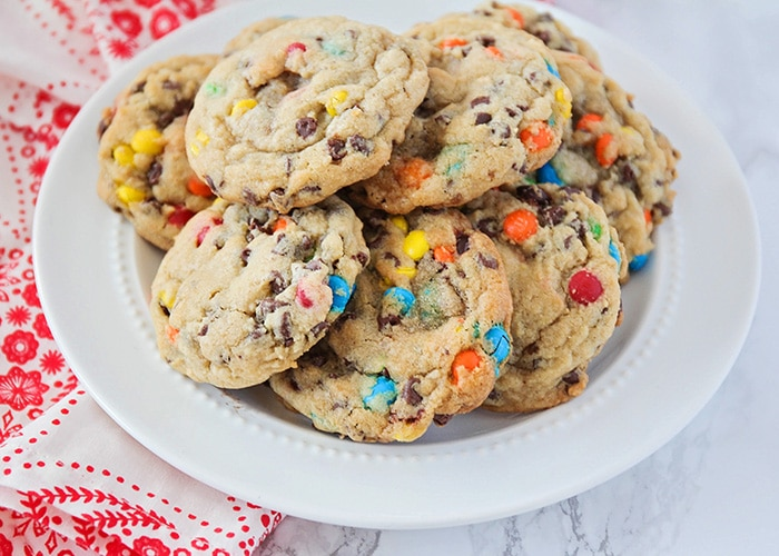 cookies made with vanilla pudding and chocolate chips