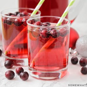 Non Alcoholic Holiday Punch with fresh cranberries