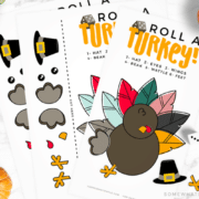 thanksgiving roll a turkey fun activity dice game printable