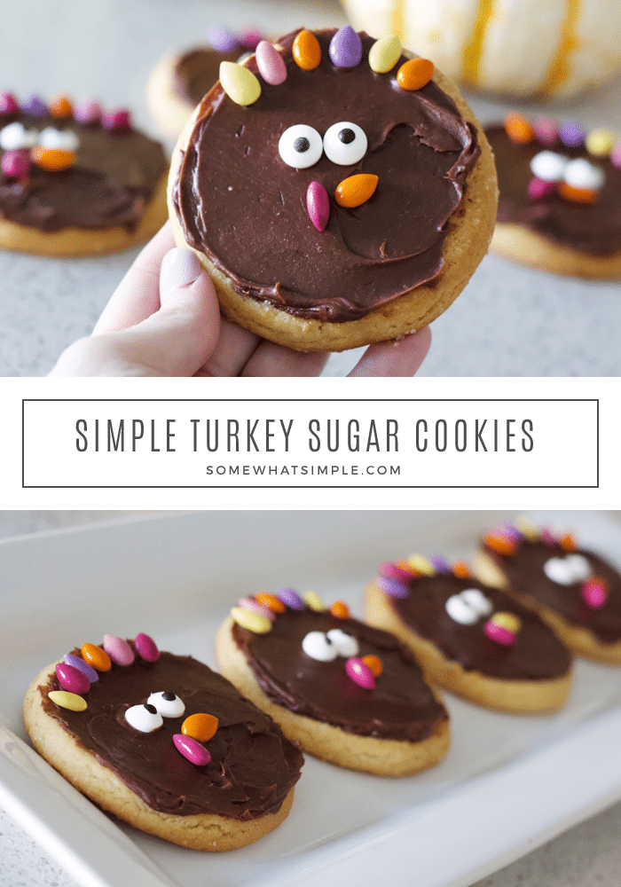 simple turkey sugar cookies tutorial recipe thanksgiving treat candy decorate kids family