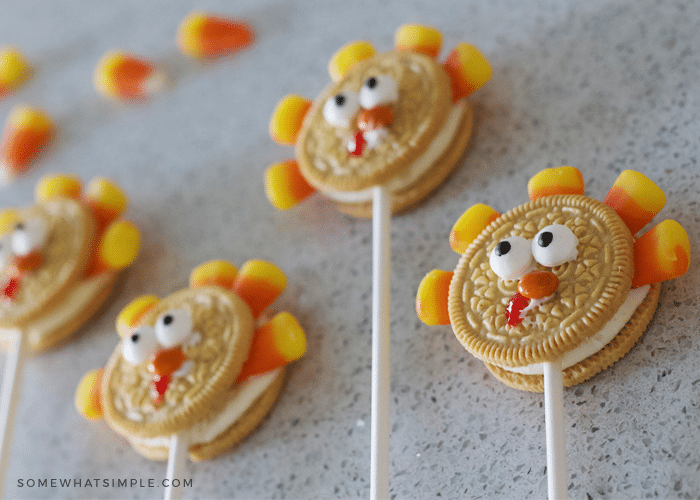 turkey oreo pops tutorial fall thanksgiving treat candy corn