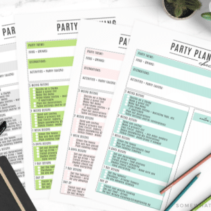 party planning printable fun checklist how to diy tips tricks hacks easy simple helpful blank fillable free download color colorful pastel black and white