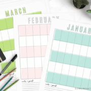 free calendar printable pdf template