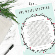 SPELLING ERROR - White Stocking