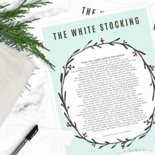 white stocking poem