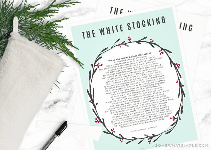 white stocking poem