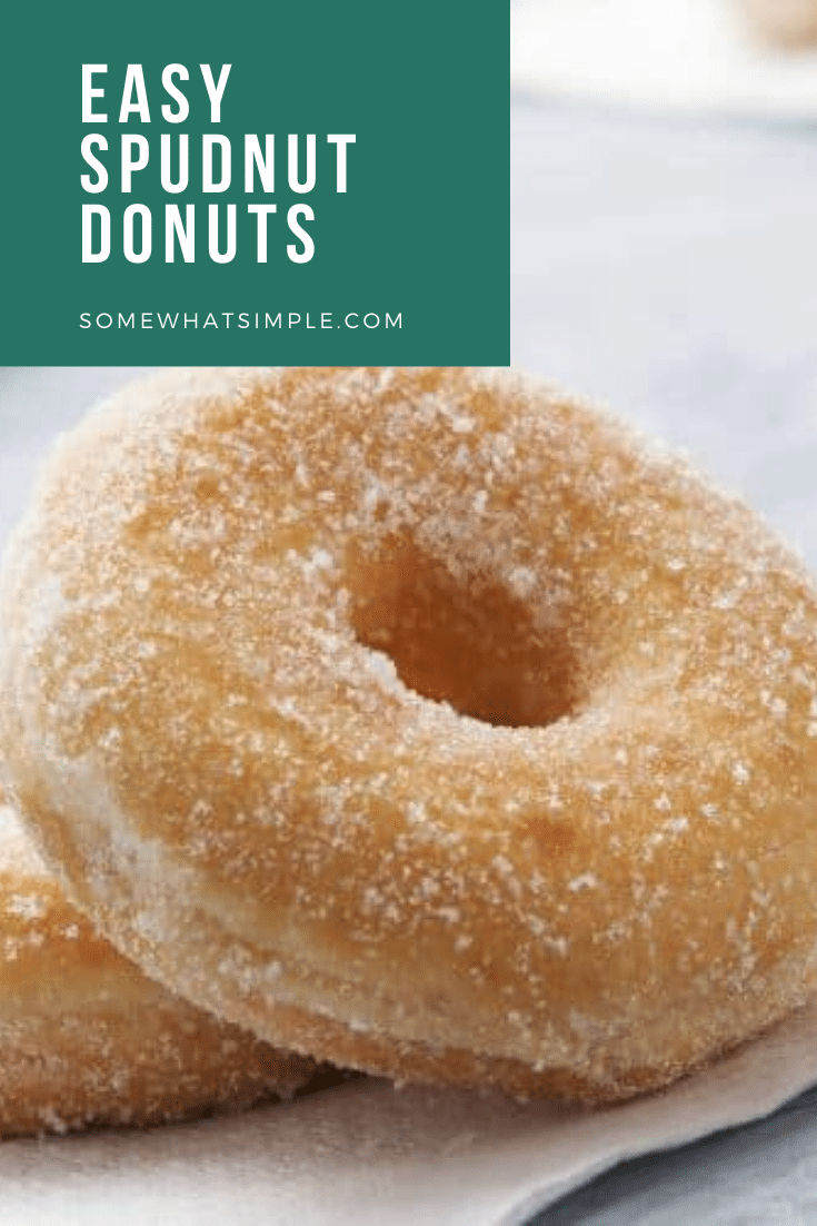 Who knew you could make donuts out of mashed potatoes that will taste amazing! This spudnuts recipe is super easy to make and they're delicious! Spudnuts are donuts made with mashed potatoes. If you've ever had potato bread, imagine those in donut form. They're soft, sweet and delicious! #spudnuts #spudnutdonuts #easydonutrecipe #mashedpotatodonuts #spudnutdoughnut via @somewhatsimple