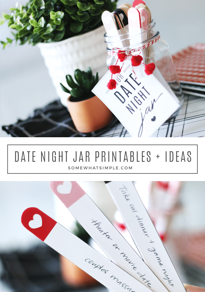 Date Night Ideas Jar Printables From Somewhat Simple