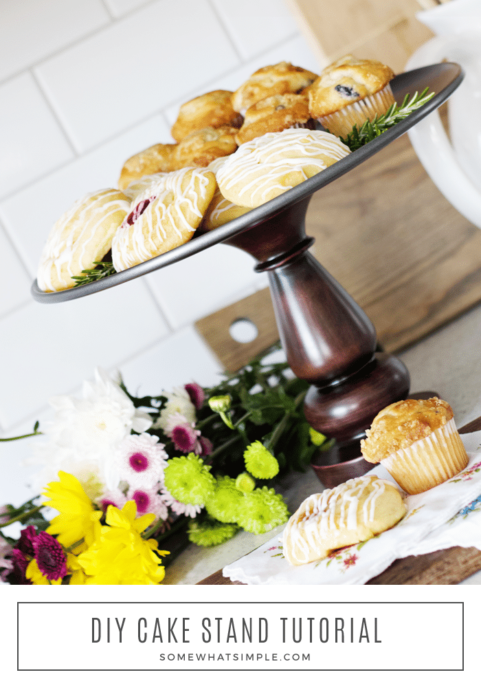 diy wood cake stand tutorial