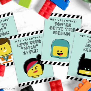 Lego Valentine Cards