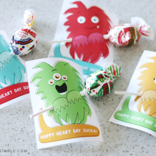 monster valentine printable