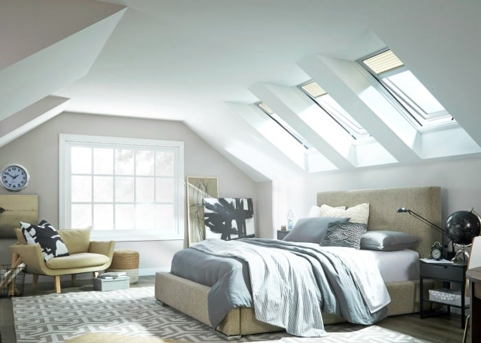 Skylights in Master Bedroom