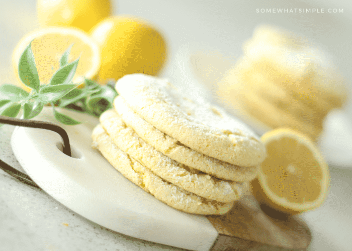 lemon cake mix cookies 3 ingredients simple easy quick dessert spring