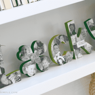 lucky wood letters st patricks day decoration keepsake photos pictures diy tutorial green