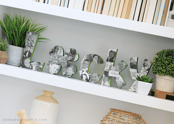 lucky wood letters st patricks day decoration keepsake photos pictures diy tutorial green craft