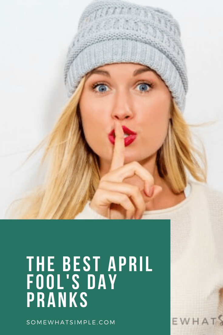 They say one sign of a good relationship is how much you laugh with each other. Let's put that to the test some of the best April Fools jokes to play on your spouse or boyfriend!  These April Fools pranks are easy to set up and are both funny and harmless so everyone will enjoy them. #aprilfoolsjokesforyourspouse #video #aprilfoolspranks #funnyaprilfoolsjokes #aprilfoolspranksforadults #easyaprilfoolsdayjokes via @somewhatsimple