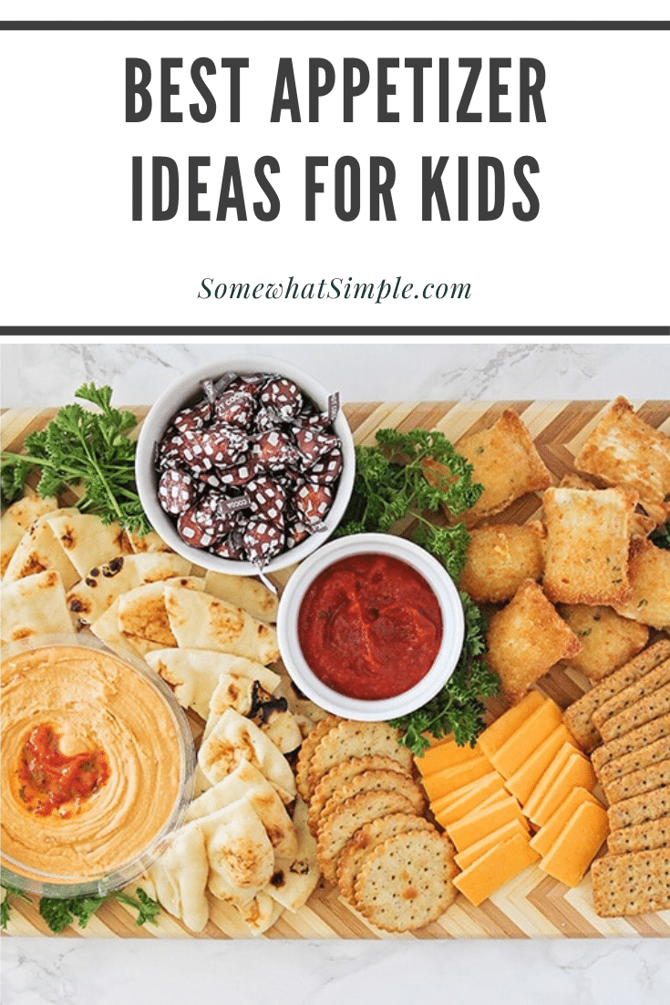 This delicious and easy to assemble appetizer board is packed full of the best appetizersfor kids! You're guaranteed to win over even the pickiest of eaters at your next party! #kidspartyappetizers #easyappetizersforkids #appetizersforkids #kidspartyfood #appetizerideasforkids via @somewhatsimple