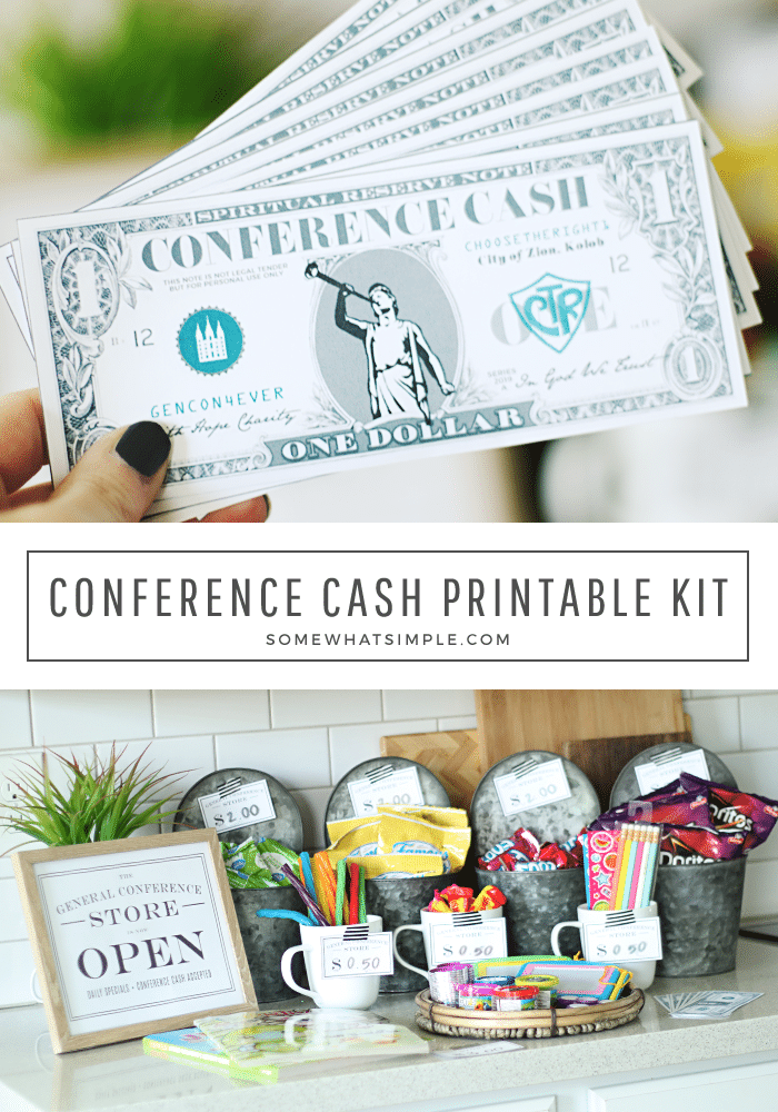Looking for fun general conference activities? This Conference Cash idea is my kids very favorite! #lds #ldsconf #generalconference #mormon  via @somewhatsimple