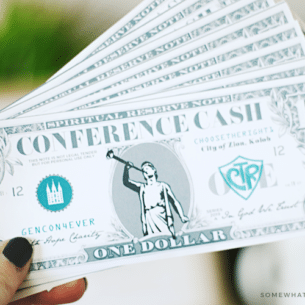 general conference activities - conference cash with free printable