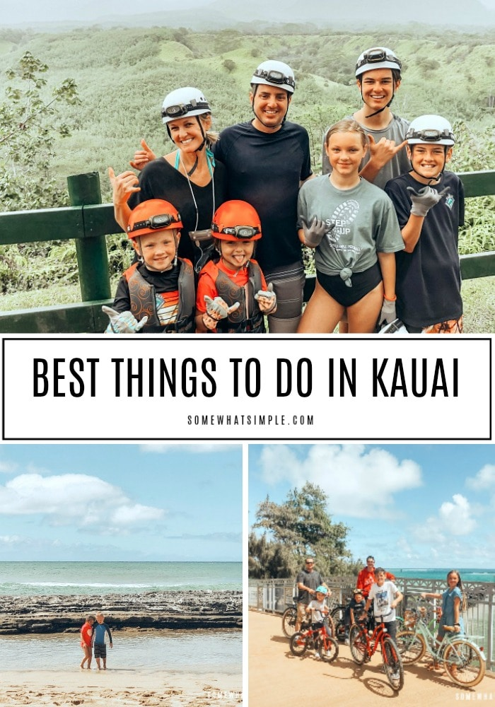 The island of Kauai is one of the most beautiful places I have ever visited.  From outdoor adventures, to relaxing on gorgeous beaches, there are so many incredible things to do in Kauai that everyone should add this destination to their traveling bucket list! #thingstodoinkauai #kauaihawaii #bestthingstodoinkauaihawaii #bestbeachesinkauai via @somewhatsimple