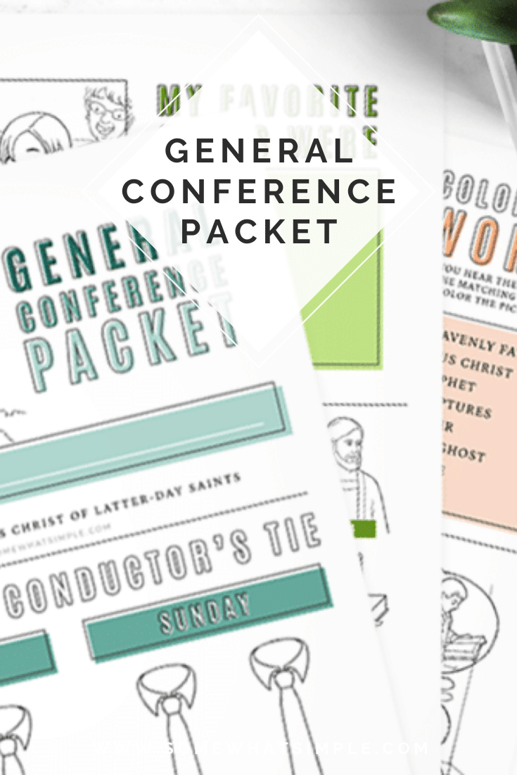 If you're looking for a fun way to keep your kids interested while watching General Conference, this packet is for you!!! Filled with fun games and activities, your kids are guaranteed to like conference this year. Don't wait, grab your free printable now! #ldsconf #ldsgeneralconference #generalconferenceactivitypacket #freeprintable #generalconferenceactivitypacketfreeprintable via @somewhatsimple