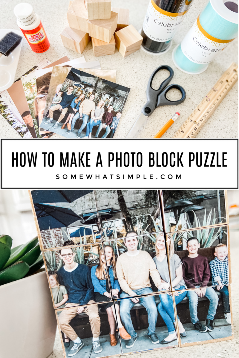 collage of images with photo block puzzle tutorial